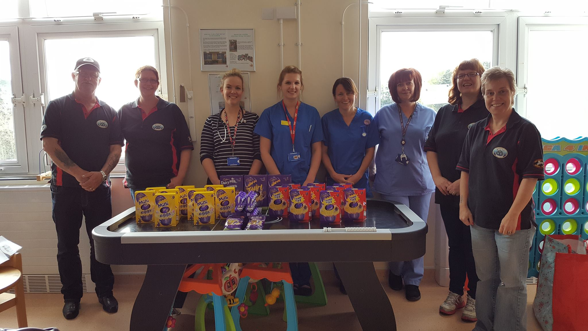 Easter Egg donation to the Caroline Thorpe Ward Barnstaple Hospital