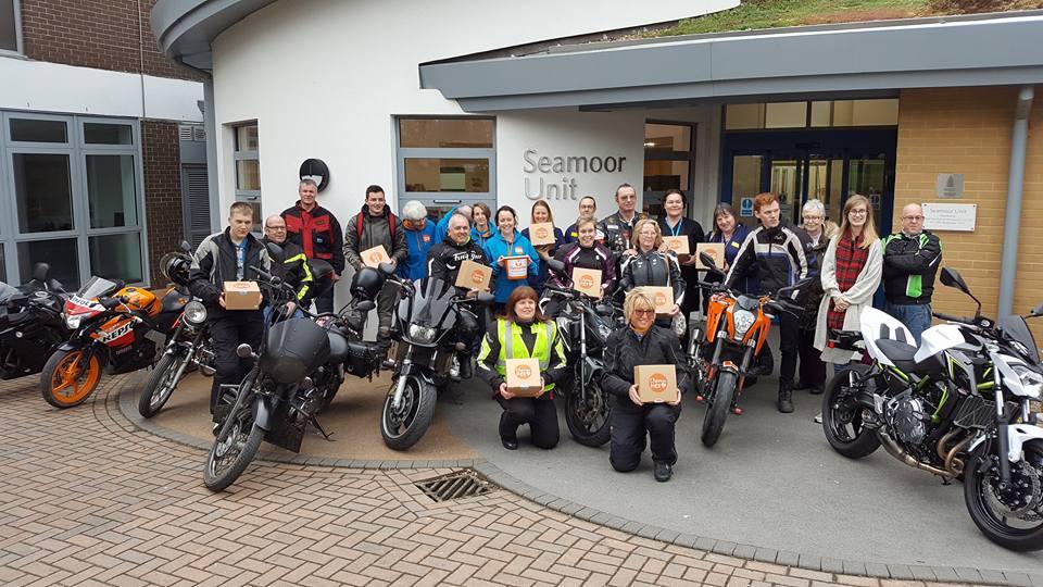 Bikers box-up with Chemo Hero